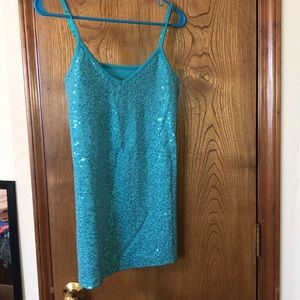 Vanity brand turquoise sparkly tank top